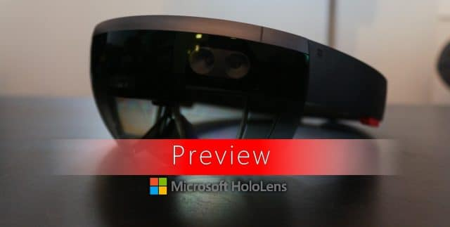Preview du casque Microsoft Hololens