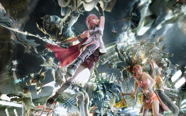 final fantasy 13 art avec Lightning