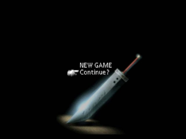 final fantasy VII game over screen