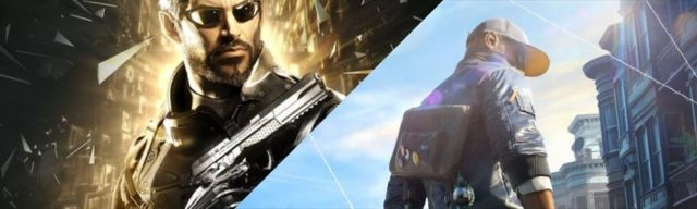 deus ex mankind divided et watchdogs 2 bannière